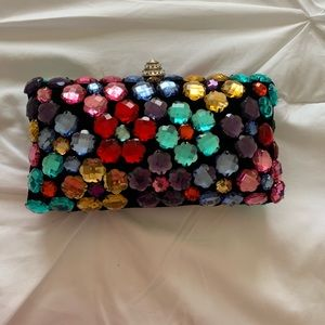 Rhinestone clutch purse